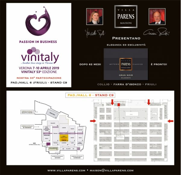 Villa Parens vi dà appuntamento a Vinitaly 2019